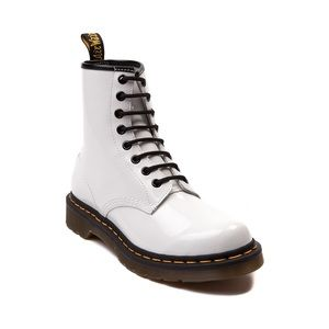 Dr. Martens 1460 8 Eye Boot Patent Leather White